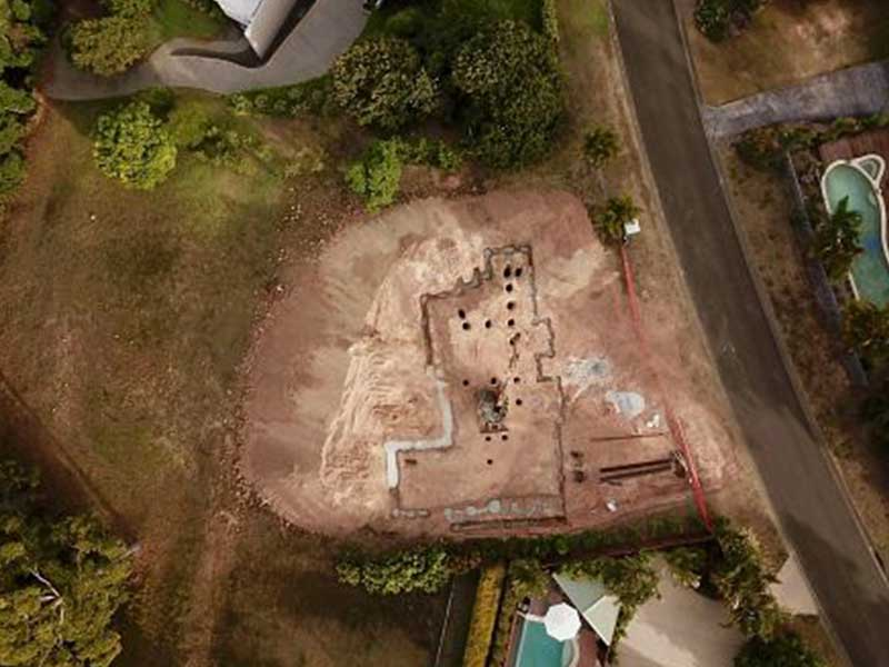 Image of sloping building site on the Sunshine Coast
